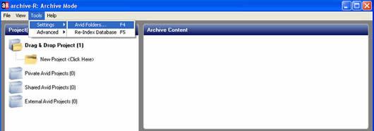 archive-R Tools-Settings-AvidFolders