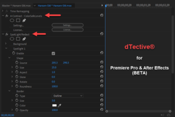 dTective for Premiere Pro & After Effects