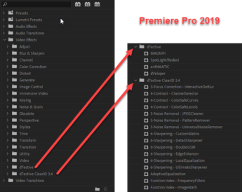 dTective in Premiere Pro