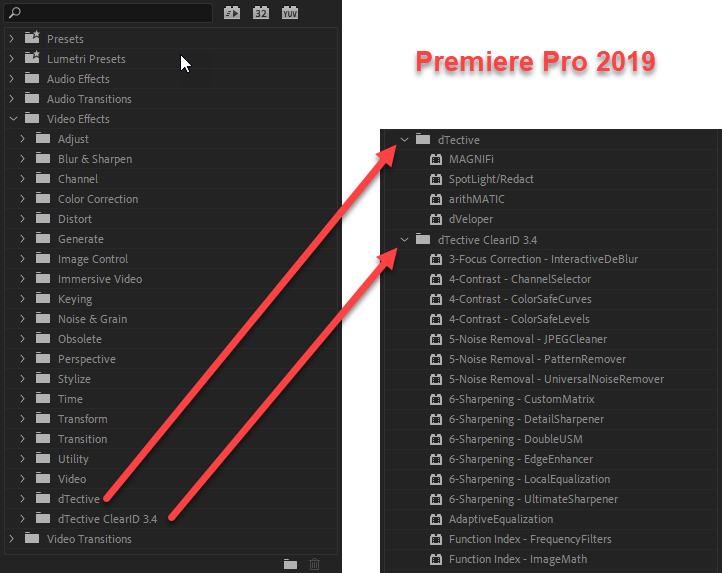 dTective® for Adobe Premiere Pro & After Effects (BETA