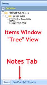 QuickDME™ Items in Tree View (v4.1)