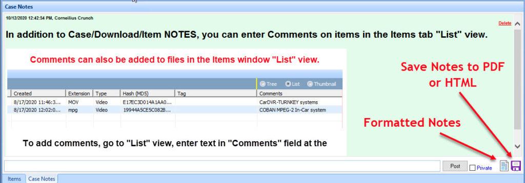 QuickDME™ Notes Tab (v4.1)