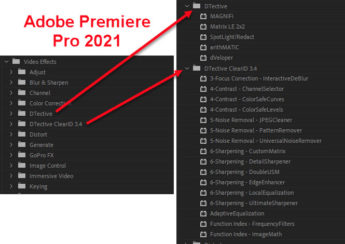 dTective® Effects in Premiere Pro 2021